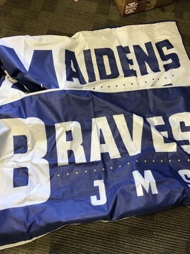 Flags! We do that! Goooooooo Braves/Maidens!