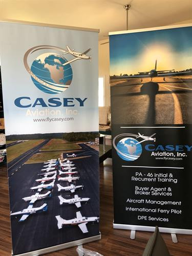 Standing banners and other identity media for your business or organization.