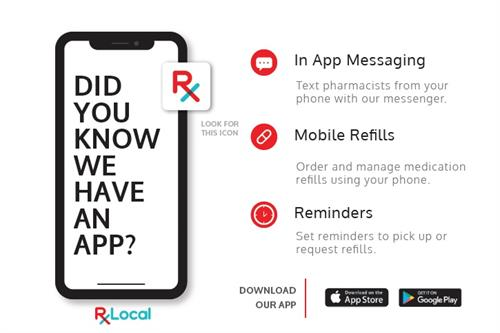 We have an easy app for refills with secure text messaging to the pharmacy!