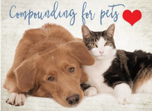 We can even compound prescription medications for your pets, contact us for more information.