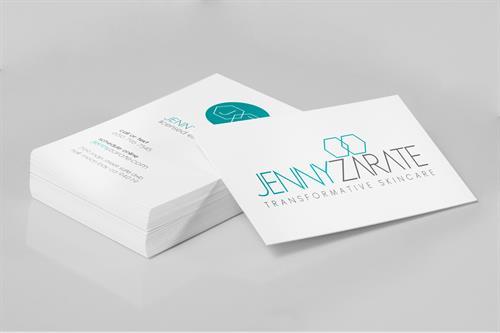 Business Cards; Jenny Zarate, Esthetician