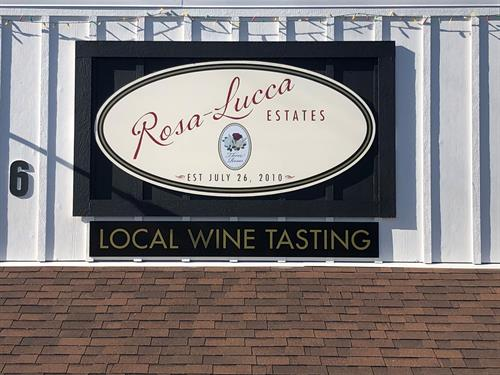 Rosa-Lucca's New Wine Tasting Room in Cool CA