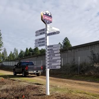 Winery directional signs