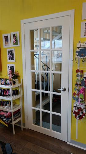 Glass pane door installed