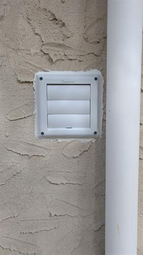 Installed vent to outside