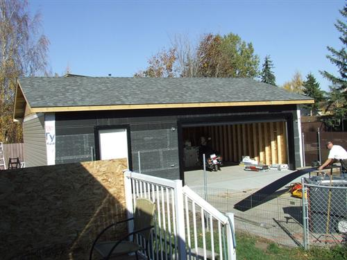 Before exterior brick installation