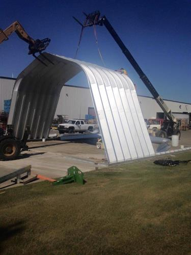 Coca Cola Steel Quonset Erection