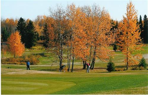 Fall colors on golf course