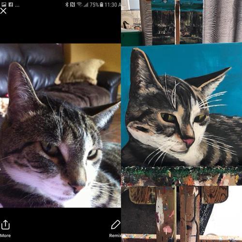 "Custom ""Maggie"" pet portrait acrylic painting on canvas 12x18"""