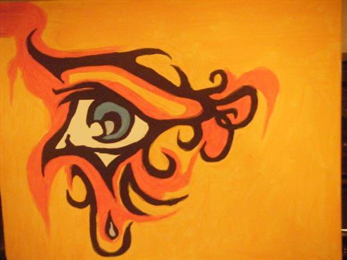 """Blue Eye"" acrylic painting on canvas 16x20"""