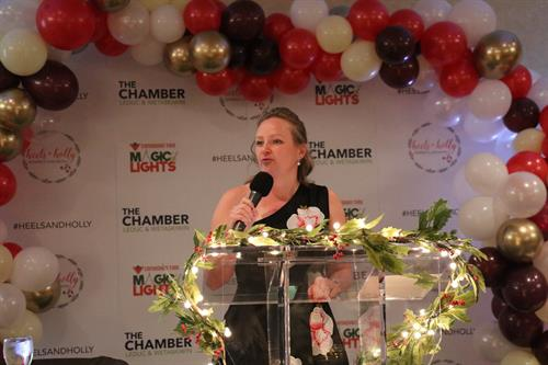 Heels & Holly Luncheon Representing Leduc's Leading Women-now Woman for Woman (Dec 2018)