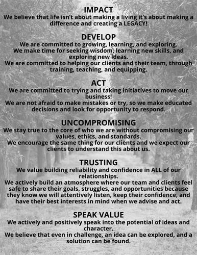 NLC Values