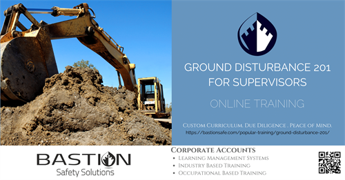Ground Disturbance Level 2 (GD for Supervisors) Online!