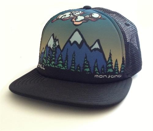 Chill Montana Flat brim Trucker Hat