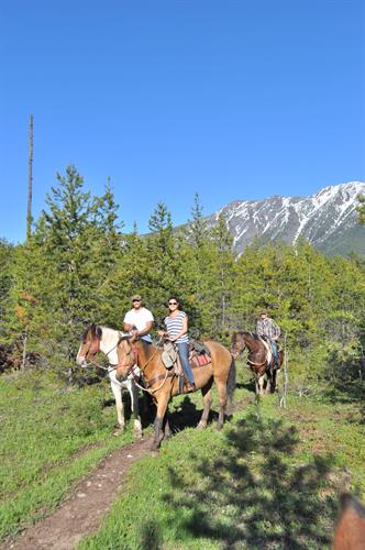 The Glacier Gateway two hour trail ride departs directly from the Discovery Center!
