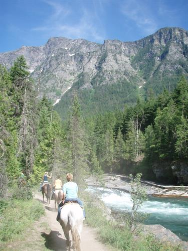 A stunning view along the Upper McDonald Creek two hour trail in Glacier National Park
