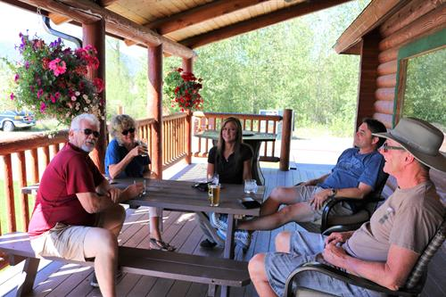 locals relaxing with after-work beverages