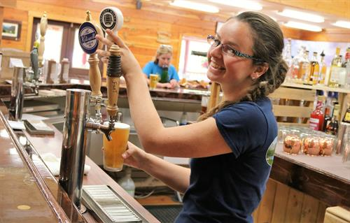 We pour only Montana craft brews and locally roasted coffee  in the bar and coffee shop