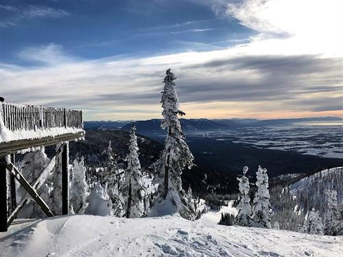 Snowmobile to the summit of the Big Mountain, and have a hot lunch on top of the world at Whitefish Mountain Resort.