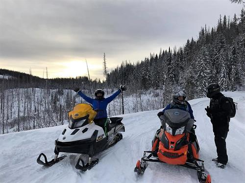 A sunrise snowmobile tour is the best way to have the trails to yourself, leaving plenty of time for other daily activities!
