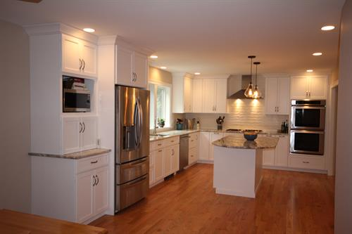 White Kitchen Remodel, this house has same floor plan as 2 Island kitchen