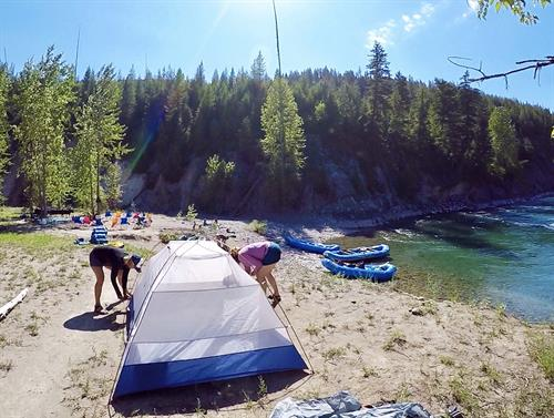 Overnight rafting on the Middle Fork Flathead.