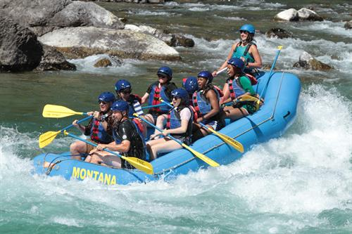 Whitewater rafting Glacier National Park's Wild and Scenic border river, the Middle Fork Flathead.