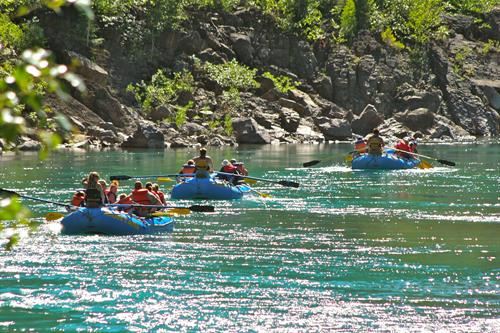 Scenic floats on the Wild and Scenic Middle Fork Flathead are a great choice for almost all ages.