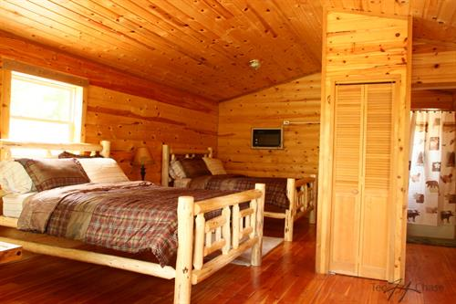 Cabins featuring a number fo different bed styles