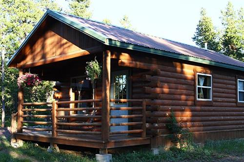 Cabins near Glacier National Park