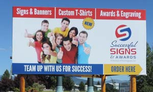 Extra Large Full Color Vinyl Banner 16 feet by 8 feet