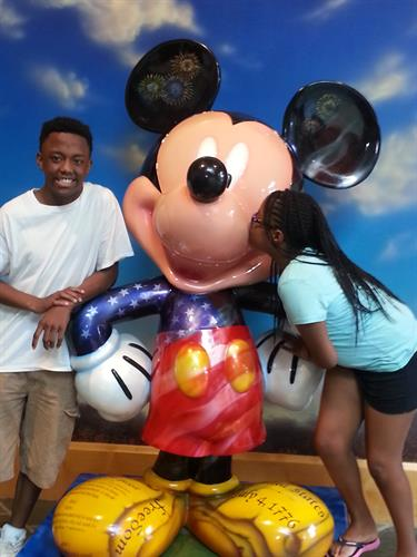 Military Dependants Enjoying Disney Vacation