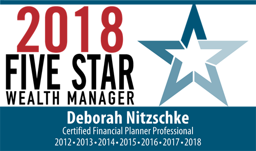 Deb's 2018 Five Star Wealth Manager Award