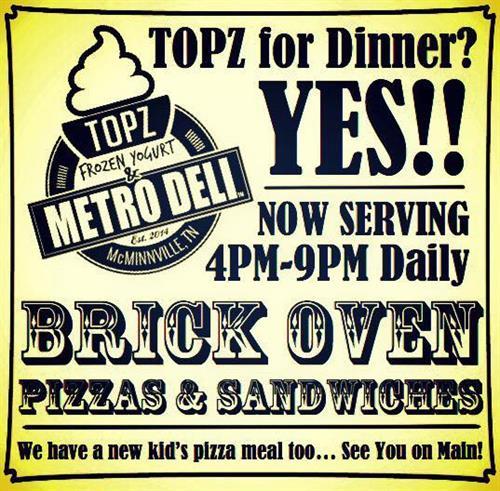 Visit TOPZ for dinner!