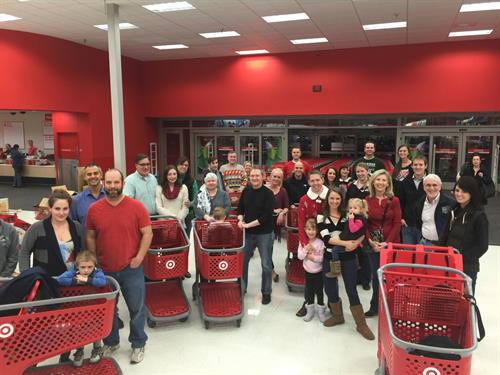 Shopping at Target for our adopted KVC kids at Christmas