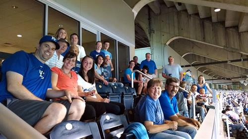 Team building at a KC Royals Game!