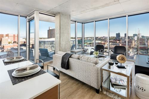 Floor-to-ceiling windows in every apartment