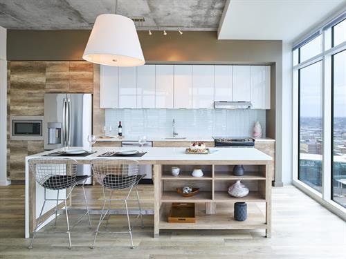 Craftsman style kitchen islands