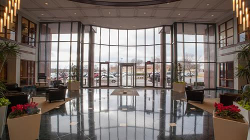Adva's main downstairs entrance. We share our building with notable law and finance offices in the Overland Park business district.