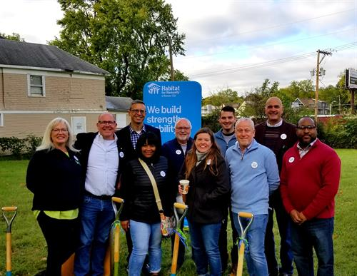 Ground breaking day for the Habitat for Humanity Pride Build