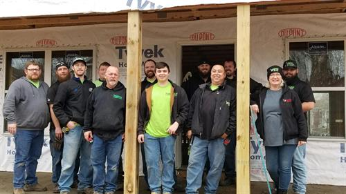 Crew working on the 1st ever Habitat for Humanity Pride Build