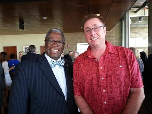 Mayor Sly James and Jeff Morgan