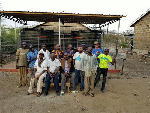 Jeff volunteering with Plumbers Without Borders providing clean water in Kenya