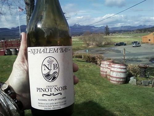 Onion Peak is peeking out from the Pinot!