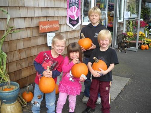 Visit Mike's pumpkin patch - Oct.