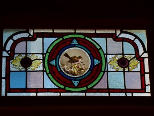 Stained Glass Window in Audubon Cottage