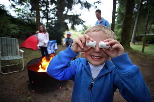Camping at Ft Stevens for Travel Oregon