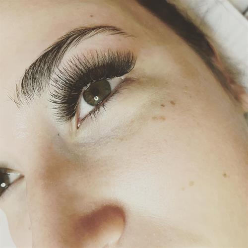 Lash extensions by Chelsey