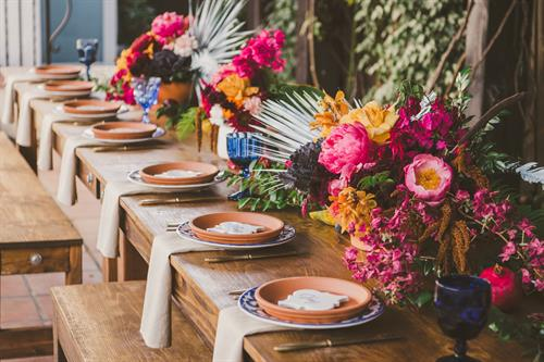 Outdoor Dinner Tablesetting