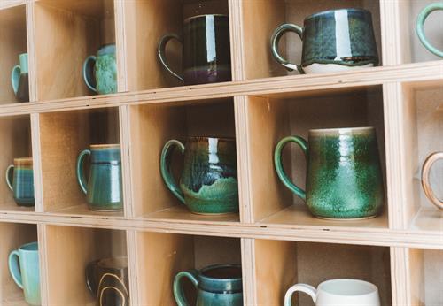 Audrey Long Ceramics Mug wall